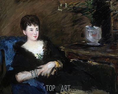 Portrait of Isabelle Lemonnier, c.1877 | Manet | Gemälde Reproduktion