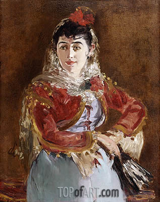 Manet | Portrait of Emilie Ambre as Carmen, c.1879