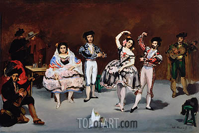 Spanish Ballet, 1862 | Manet | Painting Reproduction
