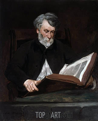 The Reader, 1861 | Manet| Painting Reproduction