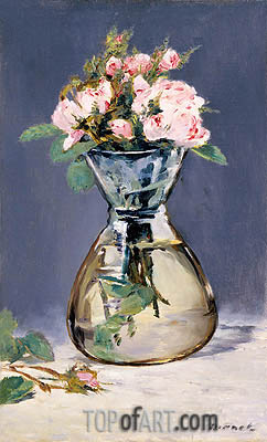 Manet | Moss Roses in a Vase, 1882