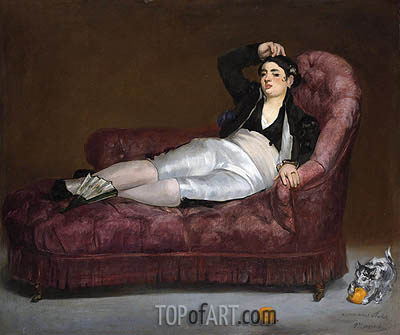 Young Woman Reclining in Spanish Costume, c.1862/63 | Manet | Painting Reproduction