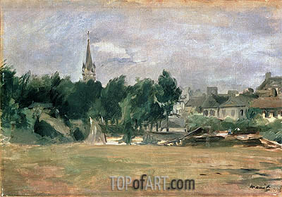 Manet | Landscape with a Village Church, undated