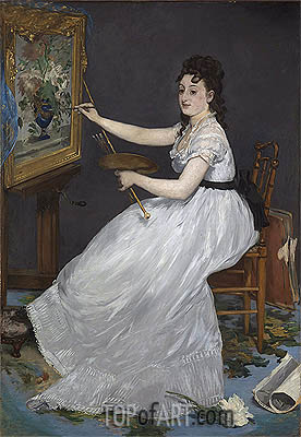 Eva Gonzales, 1870 | Manet | Gemälde Reproduktion