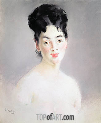 Bust of a Young Female Nude, c.1875 | Manet | Gemälde Reproduktion