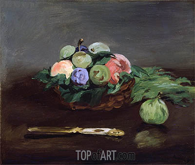 Basket of Fruit, c.1864 | Manet| Painting Reproduction