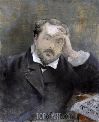 Emmanuel Chabrier, 1881 | Manet| Painting Reproduction