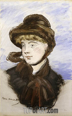 Manet | Young Girl in a Brown Hat, 1882