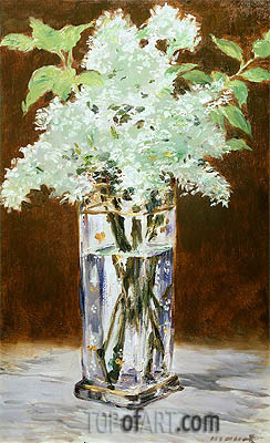 Manet | White Lilac in a Crystal Vase, 1882