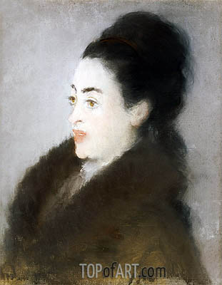 Woman in a Fur Coat in Profile, 1879 | Manet| Painting Reproduction