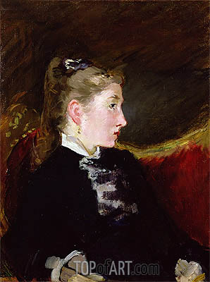 Profile of a Young Girl - Mlle. Ellen Andree, c.1860 | Manet | Painting Reproduction