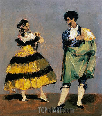 Spanish Dancers, 1879 | Manet | Painting Reproduction