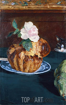 Still Life with Brioche, c.1880 | Manet | Gemälde Reproduktion