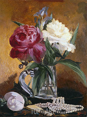 Peonies, 1862 | Manet | Painting Reproduction