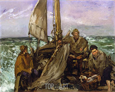 The Toilers of the Sea, 1873 | Manet | Gemälde Reproduktion