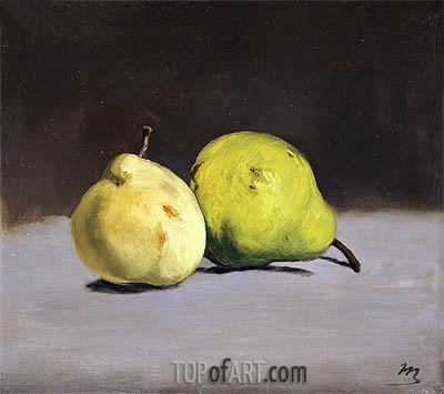 Two Pears, 1864 | Manet | Painting Reproduction