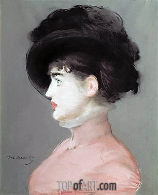 La Viennoise (Portrait of Irma Brunner), c.1880 | Manet | Painting Reproduction