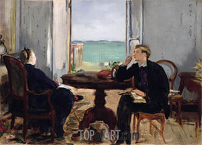 Interior at Arcachon, 1871 | Manet | Gemälde Reproduktion