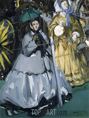 Women at the Races, 1865 | Manet | Gemälde Reproduktion