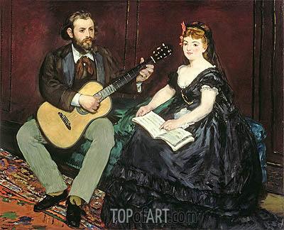 Music Lesson, 1870 | Manet | Gemälde Reproduktion
