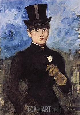 Horsewoman, Fullface, c.1882 | Manet | Painting Reproduction