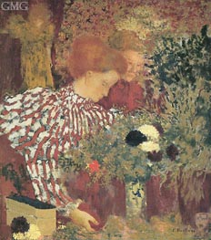 Woman in a Striped Dress, 1895 von Vuillard | Gemälde-Reproduktion