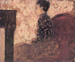 Woman Sitting by the Fireside | Vuillard | Painting Reproduction