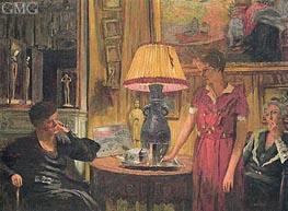 The Visit, 1931 by Vuillard | Painting Reproduction