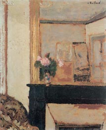 Vase of Flowers on a Mantelpiece | Vuillard | Painting Reproduction