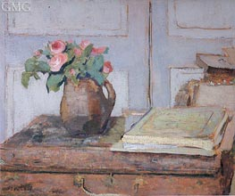 The Artist's Paint Box and Moss Roses, 1898 von Vuillard | Gemälde-Reproduktion
