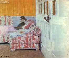 On the Sofa, White Room | Vuillard | Painting Reproduction
