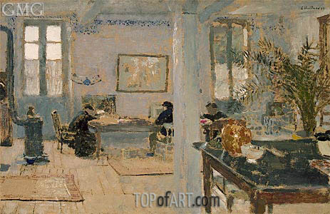 In a Room, 1899 | Vuillard | Gemälde Reproduktion