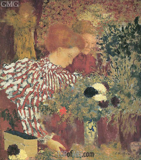 Woman in a Striped Dress, 1895 | Vuillard | Gemälde Reproduktion