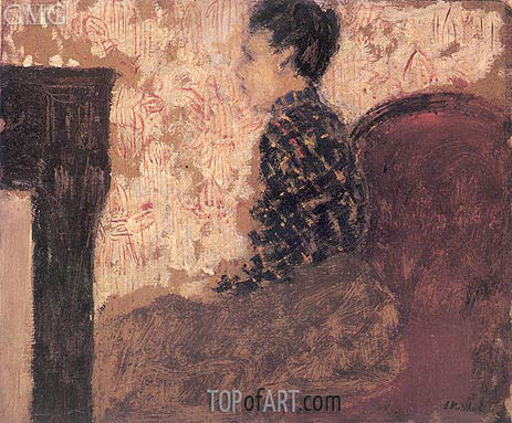 Woman Sitting by the Fireside, c.1894 | Vuillard | Painting Reproduction