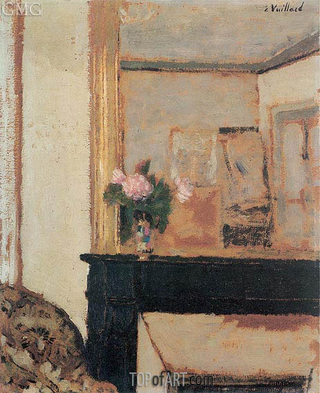 Vase of Flowers on a Mantelpiece, c.1900 | Vuillard | Painting Reproduction