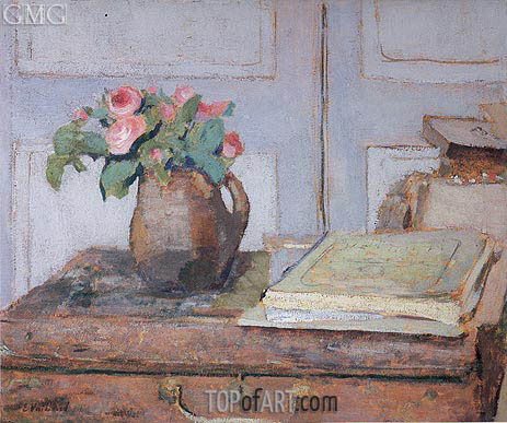 The Artist's Paint Box and Moss Roses, 1898 | Vuillard | Gemälde Reproduktion
