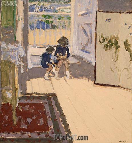 Children in a Room, c.1909 | Vuillard | Gemälde Reproduktion