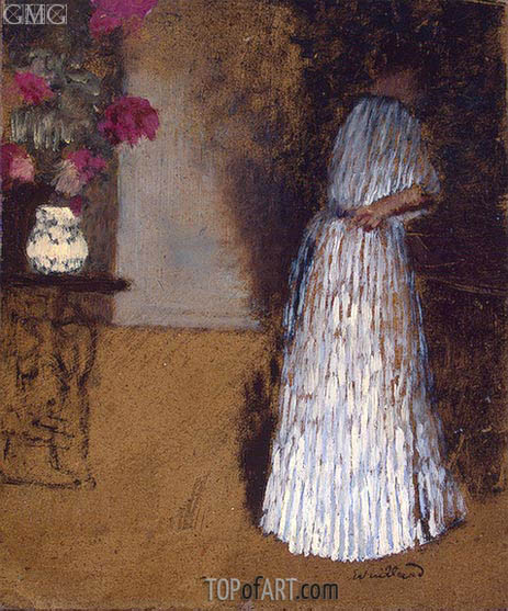 Young Woman in a Room, c.1892/93 | Vuillard | Gemälde Reproduktion