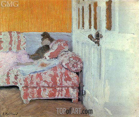 On the Sofa, White Room, c.1890/93 | Vuillard | Painting Reproduction
