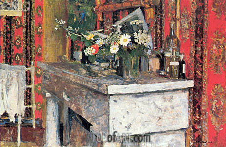 The Mantelpiece (La Cheminee), 1905 | Vuillard | Painting Reproduction