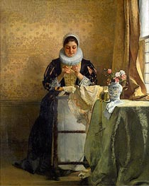 The Lace Maker, undated von Eduard Charlemont | Gemälde-Reproduktion