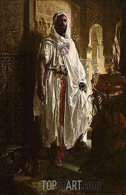 The Moorish Chief, 1878 | Eduard Charlemont| Painting Reproduction