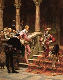 The Favourite Of The King, 1867 by Zabala | Painting Reproduction