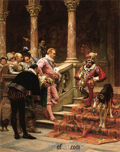 The Favourite Of The King, 1867 | Zabala | Painting Reproduction