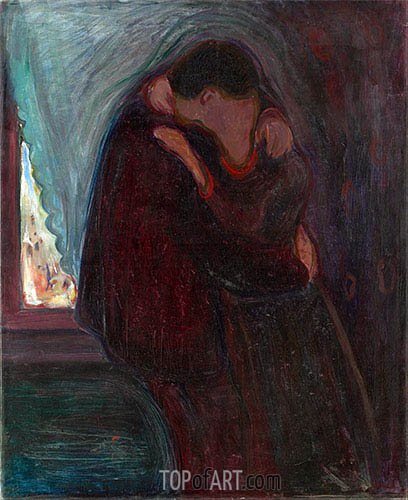 The Kiss, 1897 | Edvard Munch| Painting Reproduction