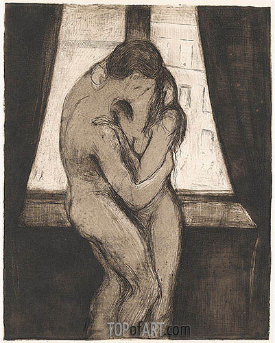 The Kiss, 1895 | Edvard Munch | Painting Reproduction