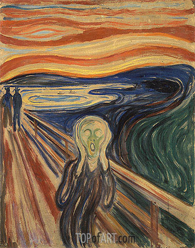 The Scream, 1910 | Edvard Munch | Gemälde Reproduktion