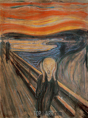 The Scream, 1893 | Edvard Munch| Painting Reproduction