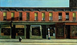 Early Sunday Morning, 1930 by Hopper   Painting Reproduction