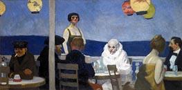 Soir Bleu, 1914 by Hopper   Painting Reproduction